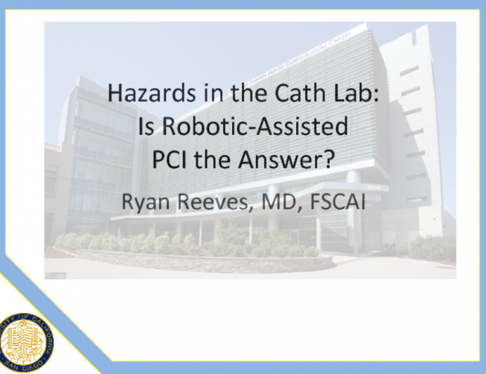 Hazards in the Cath Lab: Is Robotic-Assited PCI the Answer?