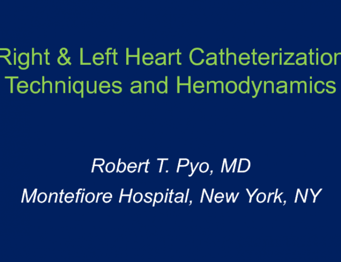 Right And Left Heart Catheterization Technique And