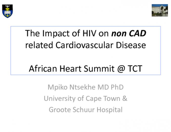 Nonischemic Heart Disease, Part 2: HIV-Related CV Disease