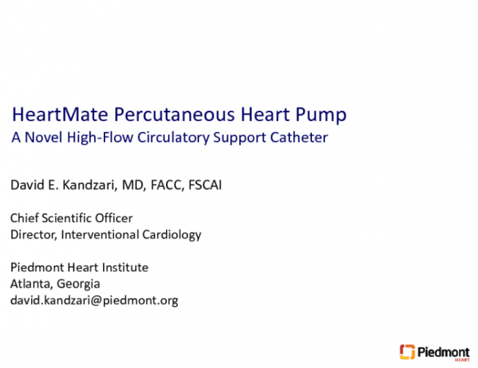 Temporary Cardiac Support During High-Risk PCI: HeartMate PHP and the SHIELD I Study