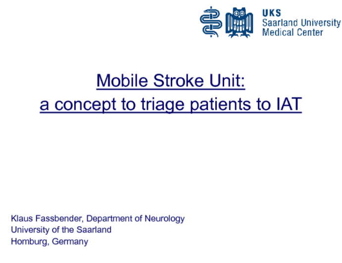 The Mobile Stroke Unit (MSU): A Mechanism to Triage Patients With Acute Stroke