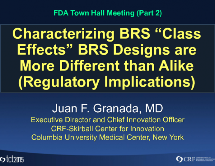 """Controversial Viewpoint: Characterizing BRS """"Class Effects"""" – BRS Designs Are More Different Than Alike (Regulatory Implications)"""