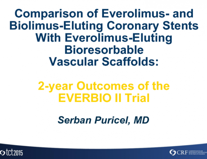 New Randomized Trial Data (2-Year Outcomes): EVERBIO II