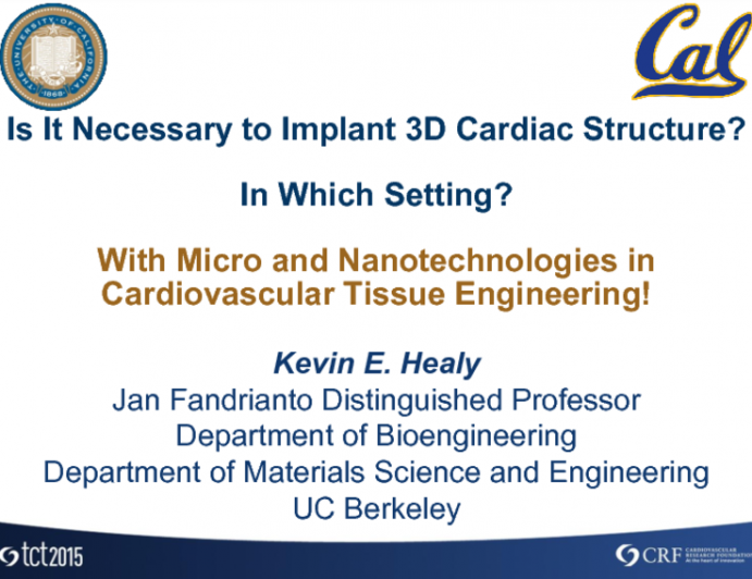 Debate: Is It Necessary to Implant 3-D Cardiac Structures? In Which Setting? With Micro and Nanotechnology in Cardiovascular Tissue Engineering!