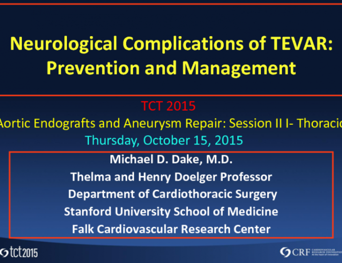 Neurological Complications of TEVAR: Prevention and Management
