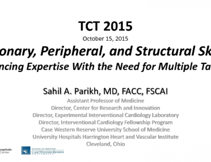 Coronary, Peripheral, and Structural Skills: Balancing Expertise With the Need for Multiple Talents