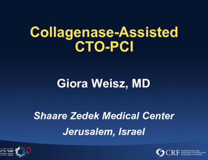 Early Experience With Collagenase Assisted CTO-PCI