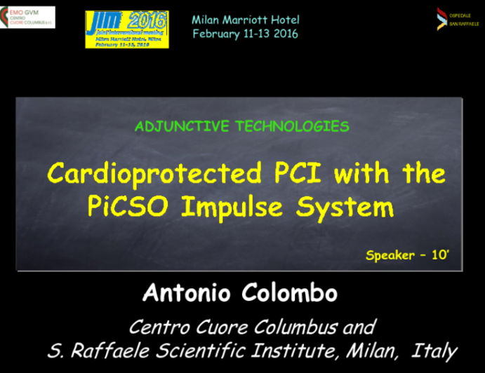 Cardioprotected PCI with the PiCSO Impulse System