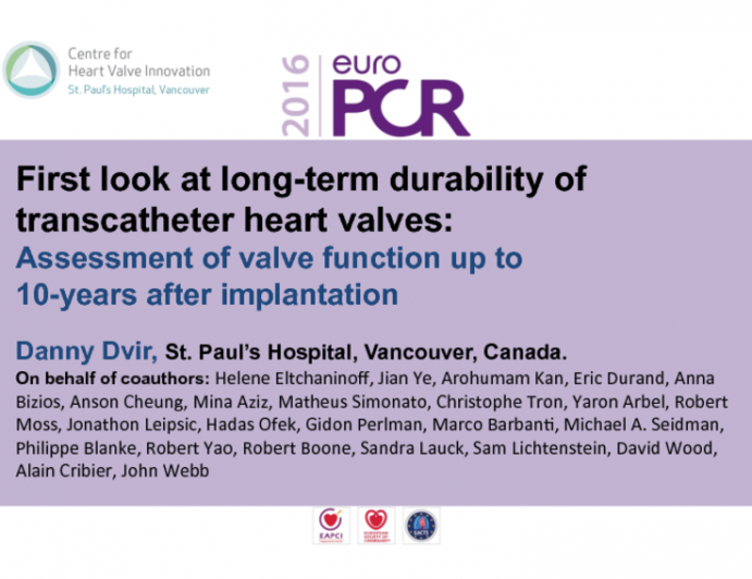 First Look at Long-term Durability of Transcatheter Heart Valves: Assessment of Valve Function up To 10-years After Implantation
