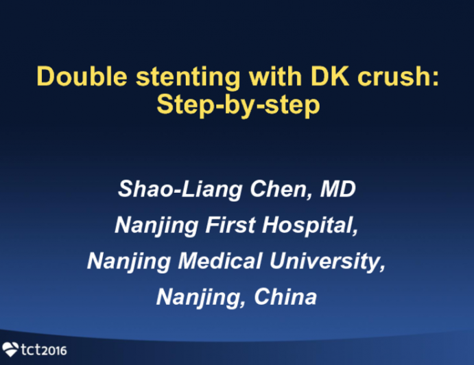 Double Stenting With DK-Crush: Step-by-step