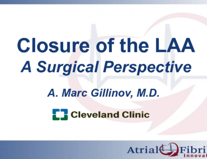 Surgical Approaches to LAA Closure: Techniques, Devices, and Results