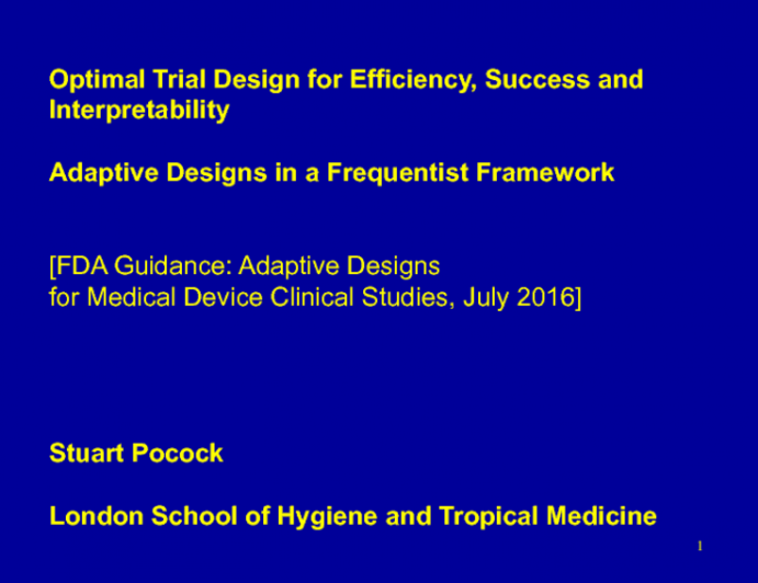 Debate: What Is the Optimal Study Design for Maximizing Trial Efficiency, Success, and Interpretability? Adaptive Design in a Frequentist Framework!