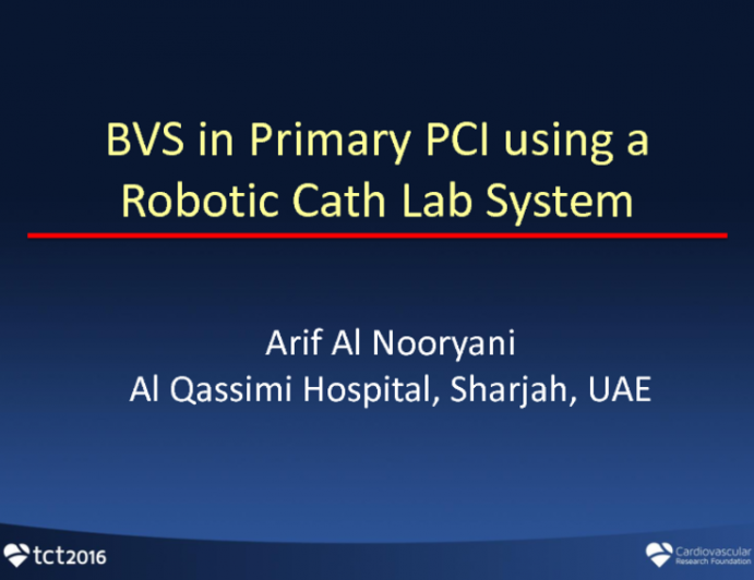BVS in Primary PCI Using A Robotic Cath Lab System