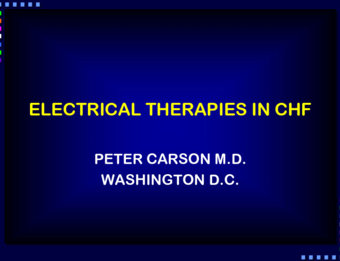 Electrical Therapies for CHF