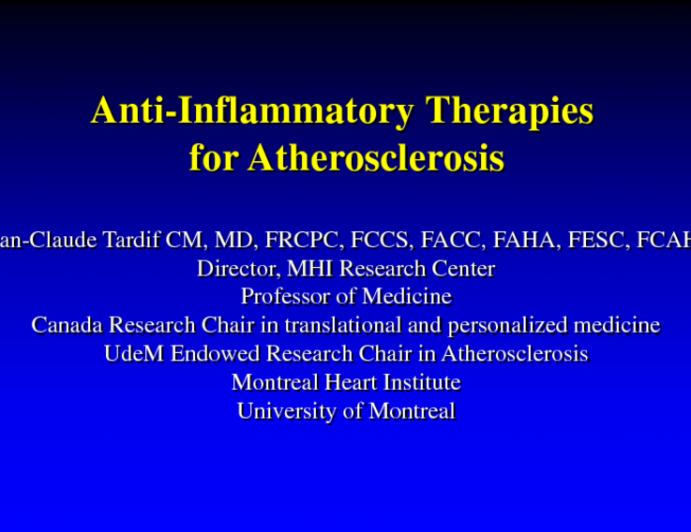 Anti-inflammatory Therapies for Atherosclerosis
