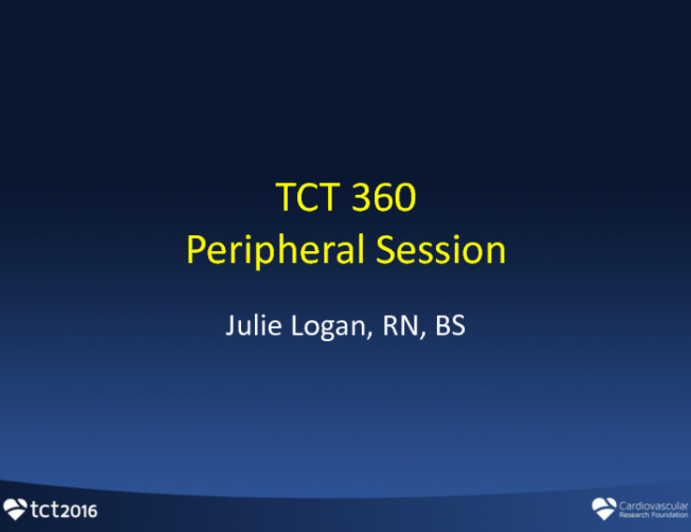 Lower Extremity Vascular Disease Intervention: Live Case Review (Wellmont Holston Valley Hospital)
