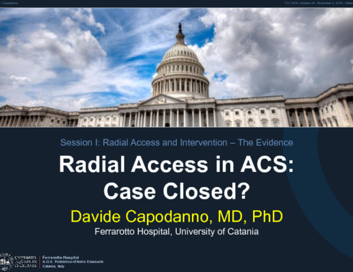 Radial Access in ACS: Case Closed?