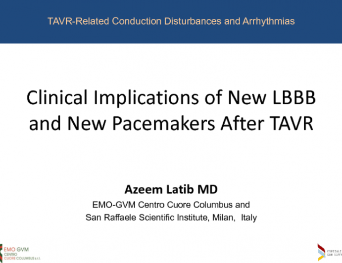 Clinical Implications of New LBBB and New Pacemakers After TAVR