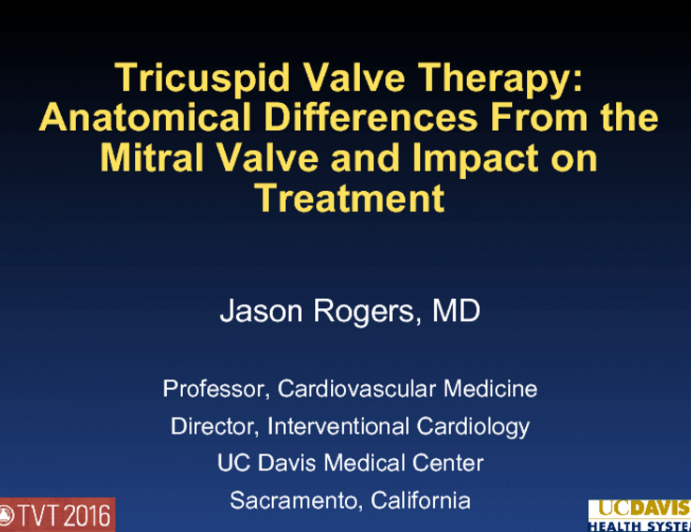 Tricuspid Valve Therapy: Anatomical Differences From the Mitral Valve and Impact on Treatment