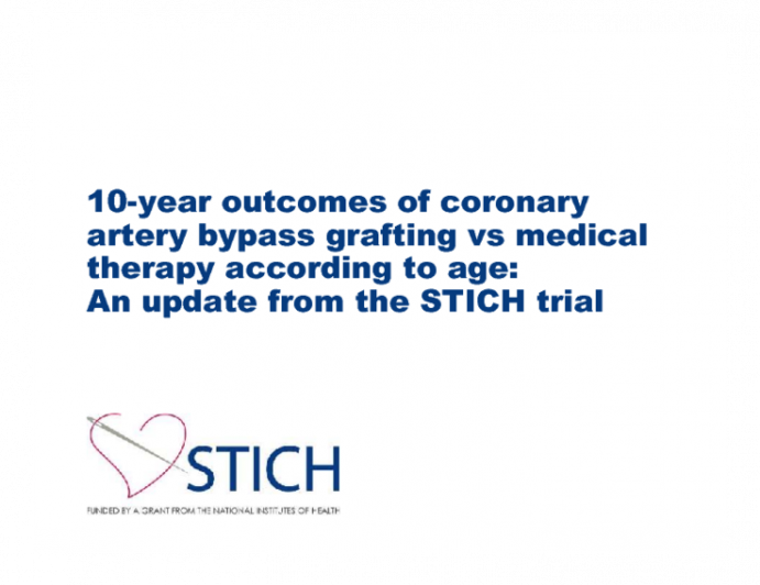 10-year outcomes of coronary artery bypass grafting vs medical therapy according to age: An update from the STICH trial