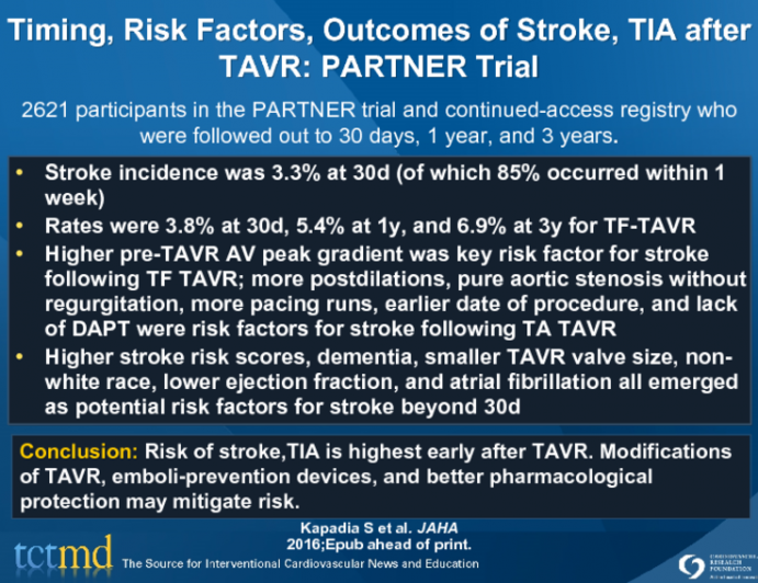 Neurological Events Following TAVR and Their Predictors: CoreValve Trials