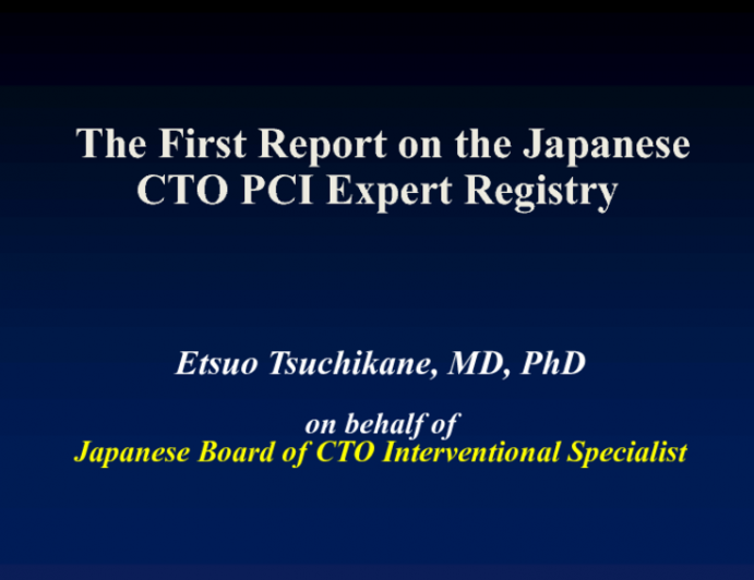 The First Report on the Japanese CTO PCI Expert Registry
