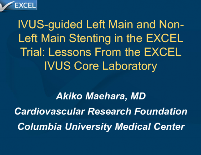 IVUS-guided Left Main and Non-left Main Stenting in the EXCEL Trial: Lessons From the EXCEL IVUS Core Laboratory
