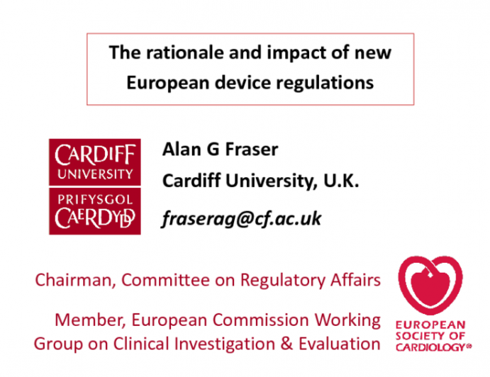 Featured Lecture: The Rationale and Impact of New European Device Regulations