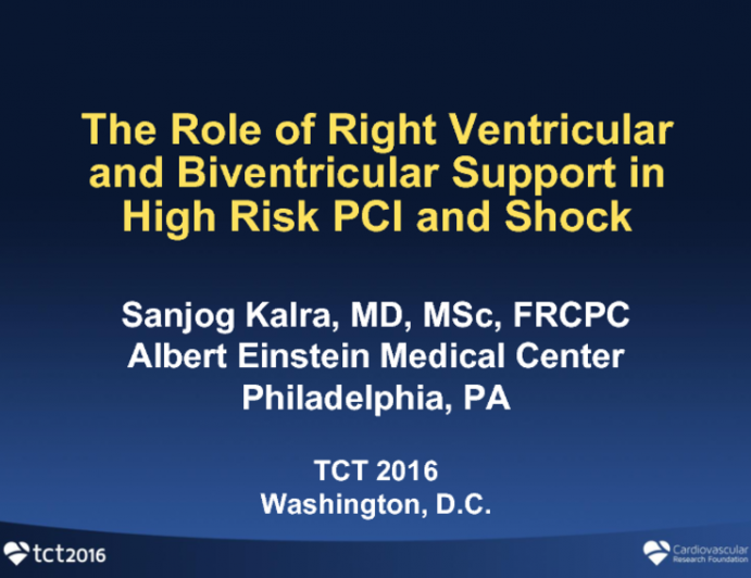 The Role of Right Ventricular and Biventricular Support in CHIP and Shock Cases
