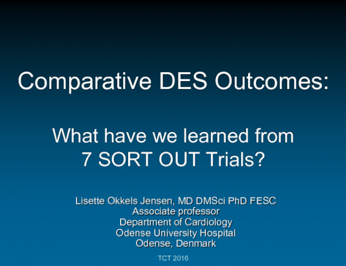 Comparative DES Outcomes: What Have We Learned From 7 SORT-OUT Trials?