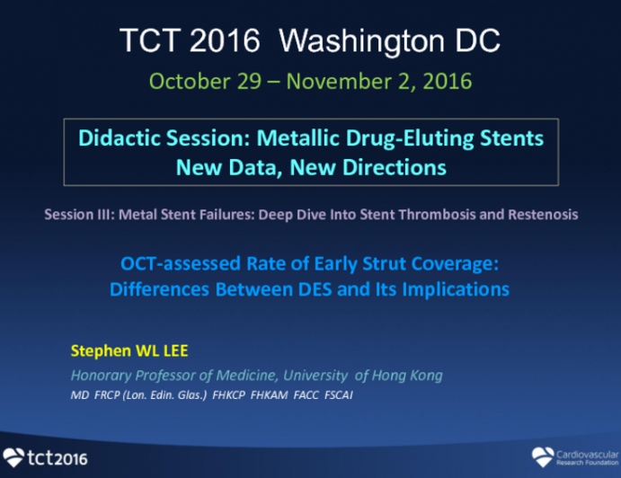 OCT-assessed Rate of Early Strut Coverage: Differences Between DES and Its Implications