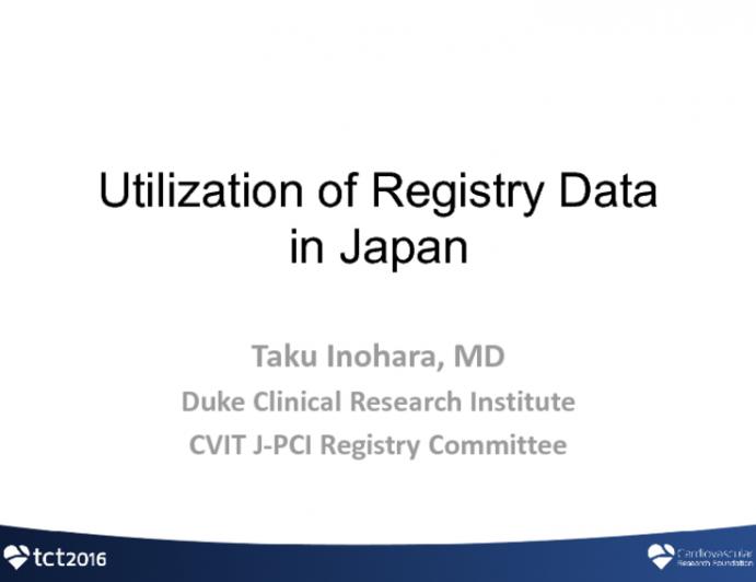 Utilization of Registry Data in Medical Care