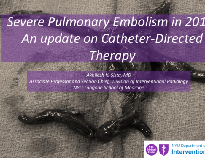 Latest Results on Catheter Assisted Thrombolysis and Thrombectomy for Submassive and Massive PE