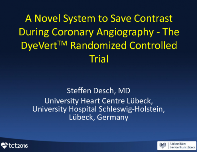 A Novel System to Save Contrast During Coronary Angiography: The DyeVert Randomized Controlled Study
