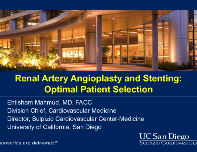 Is There a Role for PCI of Renal Artery Stenosis in Hypertension Management?