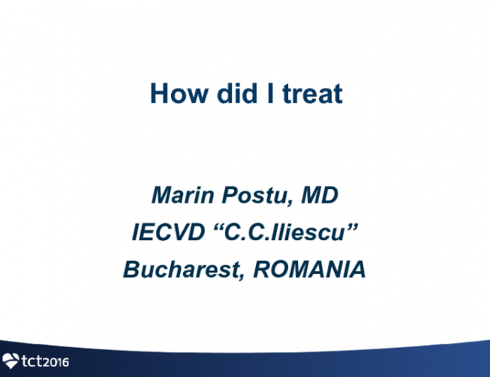 Romania Presents: How Did I Treat This Patient?