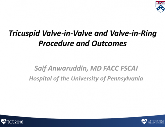Tricuspid Valve-in-Valve and Valve-in-Ring Procedures and Outcomes