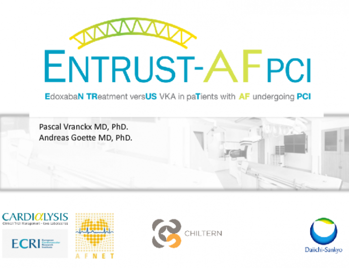 The ENTRUST AF-PCI Trial: Edoxaban in Patients With Atrial Fibrillation and PCI - Design, Rationale, and Status