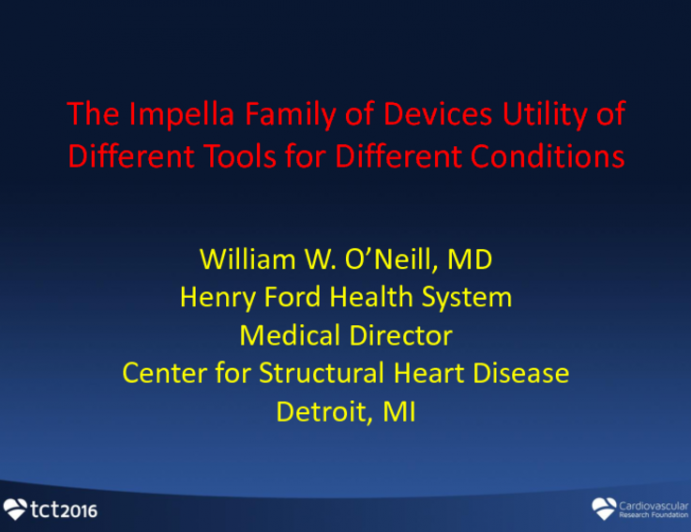 The Impella Family of Devices: Utility of Different Tools for Different Conditions