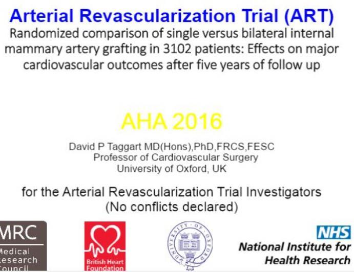 Arterial Revascularization Trial (ART)
