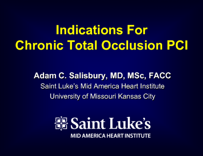 Case Selection: Indications for CTO-PCI
