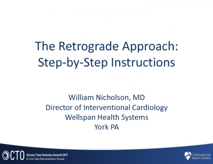 The Retrograde Approach: Step-by-Step Instructions