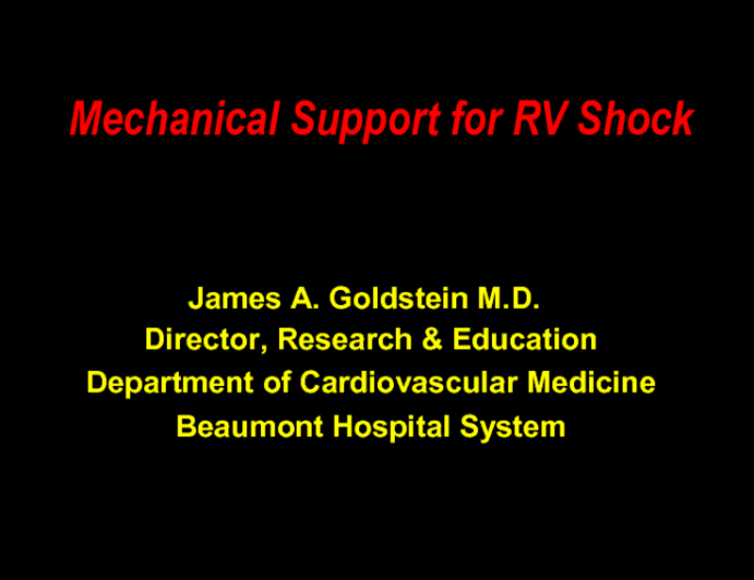 Mechanical Support for RV Shock
