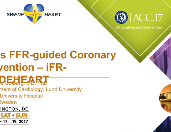 iFR vs FFR-guided Coronary Intervention – iFR-SWEDEHEART