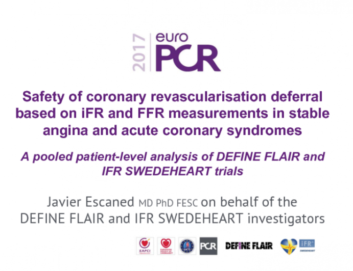 Safety of coronary revascularisation deferral based on iFR and FFR measurements in stable angina and acute coronary syndromes