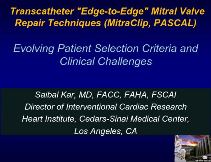 """Transcatheter """"Edge-to-Edge"""" Mitral Valve Repair Techniques (MitraClip, PASCAL): Evolving Patient Selection Criteria and Clinical Challenges"""