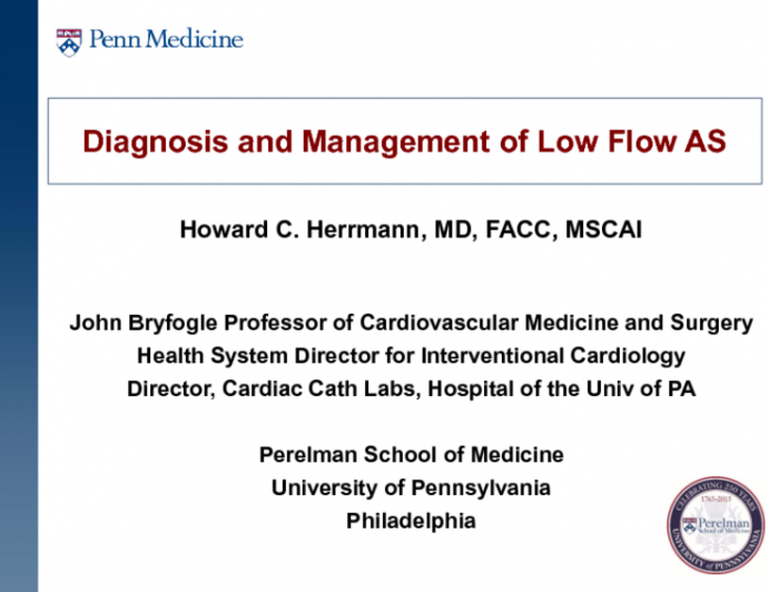 A Practical Clinical Algorithm for Correctly Diagnosing and Managing Patients With Low Flow Aortic Stenosis