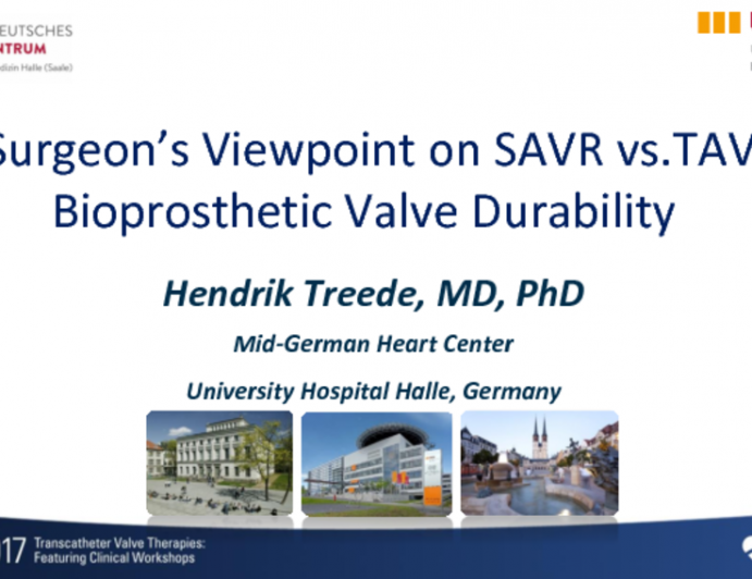 A Surgeon's Viewpoint on SAVR vs TAVR Bioprosthetic Valve Durability