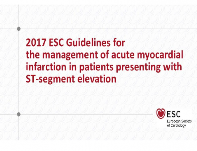2017 ESC Guidelines for the Management of Acute Myocardial Infarction in Patients presenting with ST-Segment Elevation