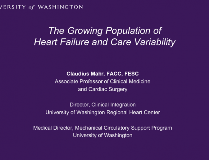 The Growing Population of Heart Failure and Care Variability